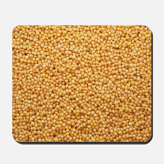 View of hulled millet (Panicum miliaceum Mousepad