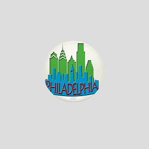 Philly Skyline Newwave Primary Mini Button
