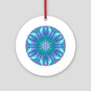 Fractal Kaleidoscope 1 Round Ornament