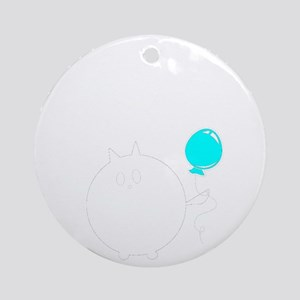 My Cats Bday Round Ornament