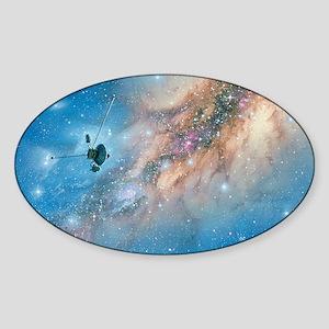 Voyager spacecraft Sticker (Oval)