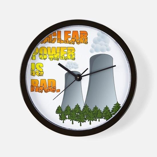Nuclear Power is Rad. Wall Clock