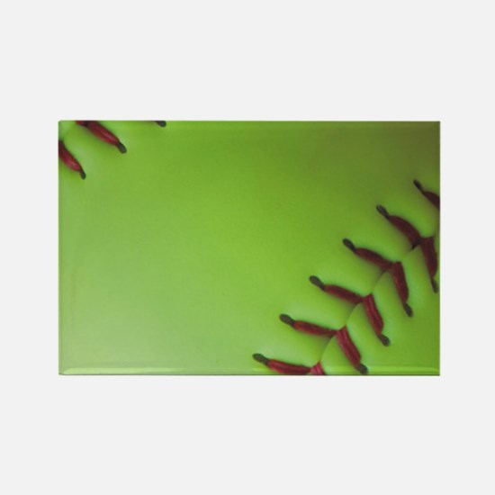 Optic yellow fastpitch softball Rectangle Magnet
