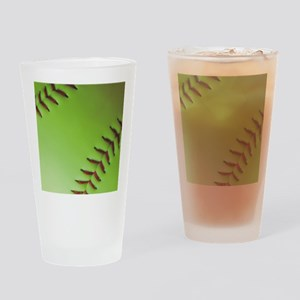 Optic yellow fastpitch softball Drinking Glass
