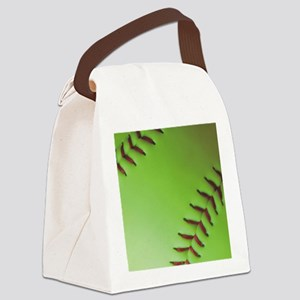 Optic yellow fastpitch softball Canvas Lunch Bag
