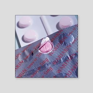 """Warfarin tablets Square Sticker 3"""" x 3"""""""