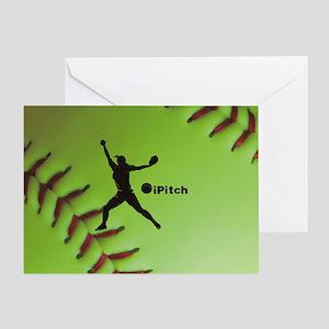 iPitch Fastpitch Softball (right han Greeting Card