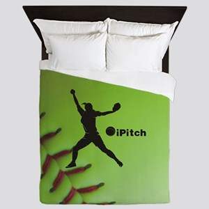 iPitch Fastpitch Softball (right hande Queen Duvet