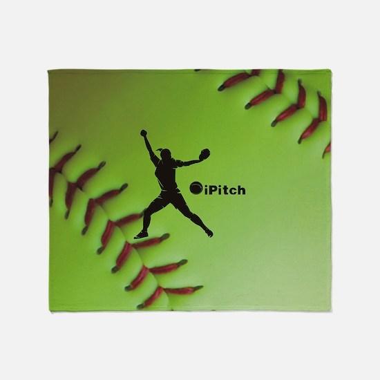 iPitch Fastpitch Softball (right han Throw Blanket