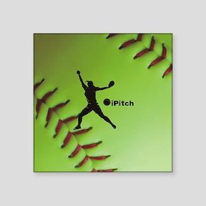 "iPitch Fastpitch Softball ( Square Sticker 3"" x 3"""