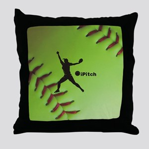 iPitch Fastpitch Softball (right hand Throw Pillow