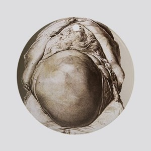 Uterus of a pregnant woman Round Ornament