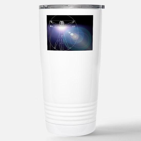Vitruvian man with flar Stainless Steel Travel Mug
