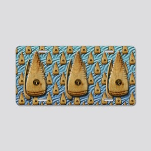 Bowed Psaltery Toiletry Bag Aluminum License Plate