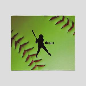 iHit Fastpitch Softball (right hande Throw Blanket