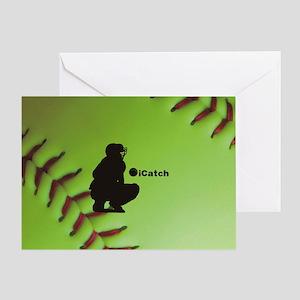 iCatch Fastpitch Softball Greeting Card