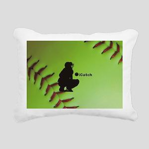 iCatch Fastpitch Softbal Rectangular Canvas Pillow