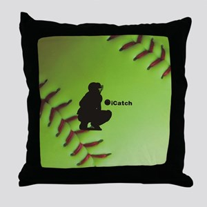 iCatch Fastpitch Softball Throw Pillow