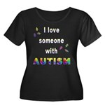 I love someone with Autism Women's Plus Size Scoop