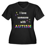 I love someone with Autism Women's Plus Size V-Nec