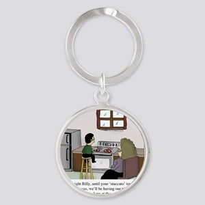 Staccato Touch Round Keychain