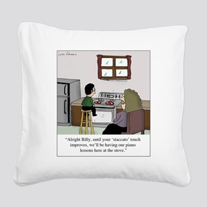 Staccato Touch Square Canvas Pillow
