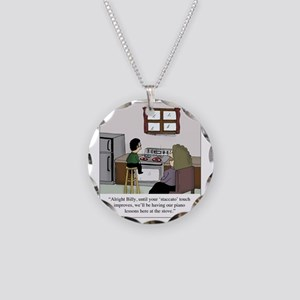 Staccato Touch Necklace Circle Charm