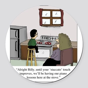 Staccato Touch Round Car Magnet