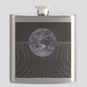 Warped space-time due to gravity Flask