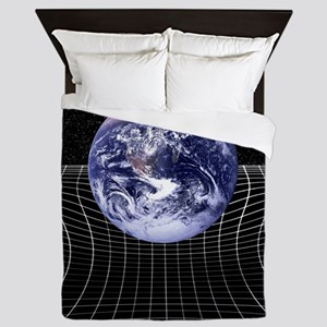 Warped space-time due to gravity Queen Duvet