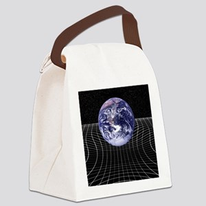 Warped space-time due to gravity Canvas Lunch Bag