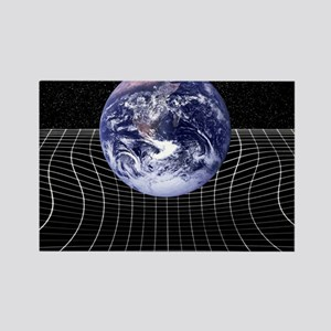 Warped space-time due to gravity Rectangle Magnet
