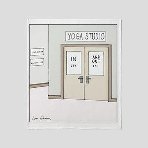 Yoga Studio Throw Blanket
