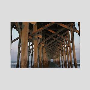 000-Pawleys Pier Rectangle Magnet