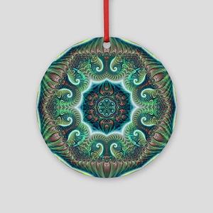 Pastel Fractal Kaleidoscope Round Ornament