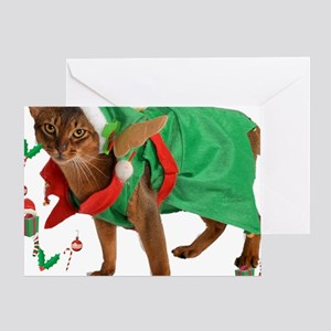 Christmas Abyssinian cat Greeting Card