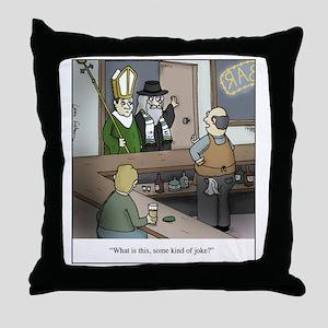 Some Kind of Joke Throw Pillow