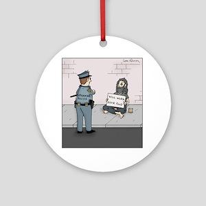Grammar Police Round Ornament