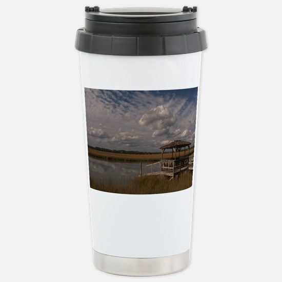 001-Dock Clouds Stainless Steel Travel Mug