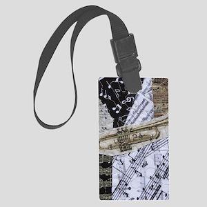 0375-sleeve-trumpet Large Luggage Tag