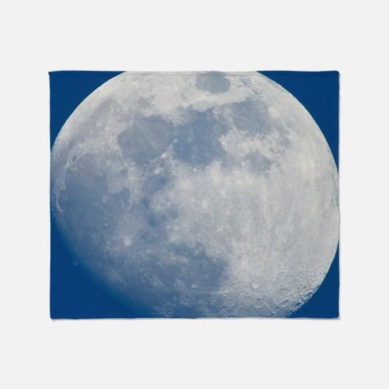 Waxing gibbous Moon Throw Blanket