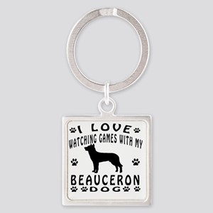 Beauceron designs Square Keychain