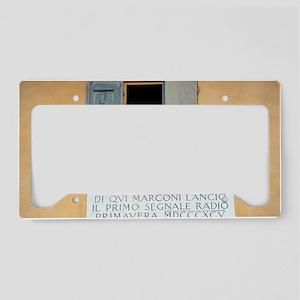 Window where Marconi transmit License Plate Holder