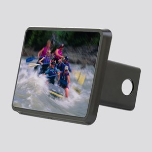 Whitewater rafting Rectangular Hitch Cover