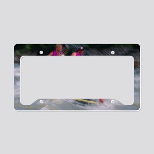 Whitewater rafting License Plate Holder