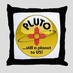 NM loves Pluto Throw Pillow