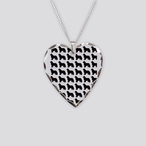 newf silhouette Necklace Heart Charm