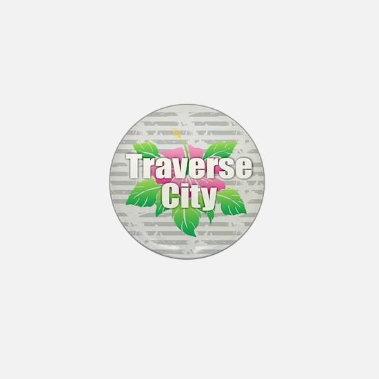 Traverse City - Hibiscus Mini Button