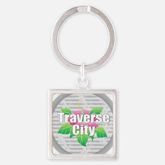 Traverse City - Hibiscus Keychains