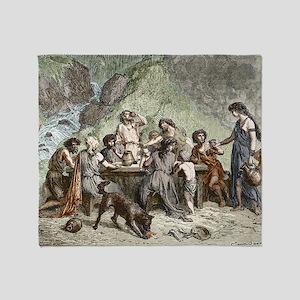 Bronze Age Feast Throw Blanket